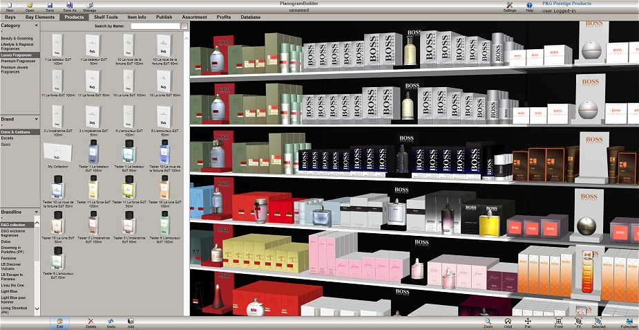 Planogrambuilder online visual merchandising planogram for Online shelf design tool