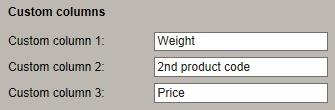 custom database columns